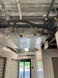 Storage Depot ventilation installation